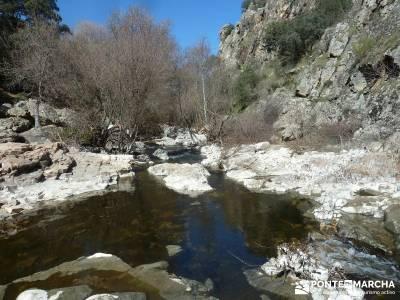 Azud del Mesto - Cascada del Hervidero;bosques encantados rutas por cercedilla rutas pedriza